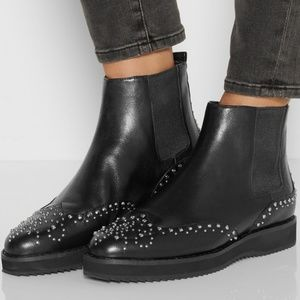 Michael Kors NEW Studded Leather Chelsea Boots
